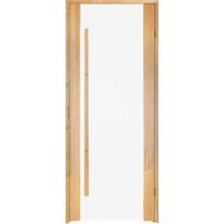 Saunan ovi Prosauna Sarastus, 9x19, kirkas lasi, leppä