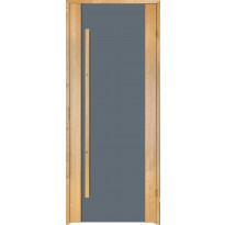 Saunan ovi Prosauna Sarastus, harmaa lasi, 9x19, leppä