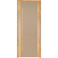 Saunan ovi Prosauna Sarastus, 8x19 , pronssin värinen lasi, leppä