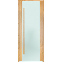 Saunan ovi Prosauna Sarastus, 8x19, etsattu lasi, leppä