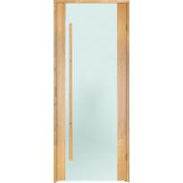 Saunan ovi Prosauna Sarastus, 9x19, etsattu lasi, leppä