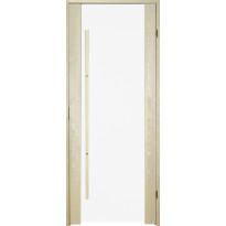 Saunan ovi Prosauna Sarastus, 8x19, kirkas lasi, haapa