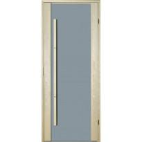 Saunan ovi Prosauna Sarastus, harmaa lasi, 8x19, haapa