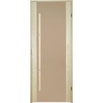 Saunan ovi Prosauna Sarastus, 9x19, pronssin värinen lasi, haapa