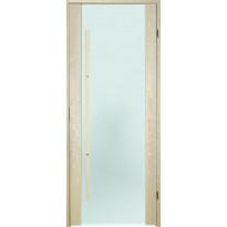 Saunan ovi Prosauna Sarastus, 9x19, etsattu lasi, haapa