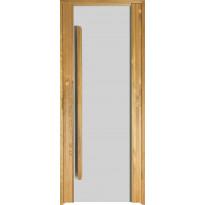 Saunan ovi Prosauna Sarastus, kirkas lasi, 8x19, lämpökäsitelty haapa