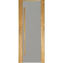 Saunan ovi Prosauna Sarastus, 7x19, harmaa lasi, lämpökäsitelty haapa