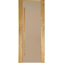 Saunan ovi Prosauna Sarastus, 9x19 , pronssin värinen lasi, lämpökäsitelty haapa