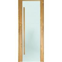Saunan ovi Prosauna Sarastus, 9x19, etsattu lasi, lämpökäsitelty haapa