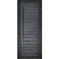 Saunan ovi Prosauna Hiili, 9x19, mänty, musta