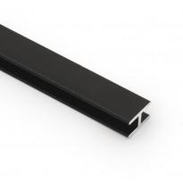 Laminaattilevyn jatkolista Westag & Getalit AG, H-profiili 3650mm, 3mm paksulle levylle, musta