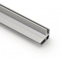 Laminaattilevyn kulmalista Westag & Getalit AG, ulko-/sisäkulmaan 3650mm, 3mm paksulle levylle, hopea