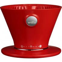 Suodatinsuppilo Pour Over Wilfa Svart, virtauksen säätimellä, punainen