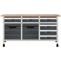 Työpöytä autotalliin Wolfcraft 8079000, 860x1610x650mm