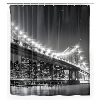 Tekstiilisuihkuverho Brooklyn Bridge LED