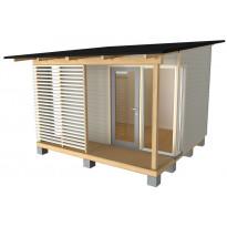Vierasmaja Woodia City VMP 9 pulpettikatolla, 9m²
