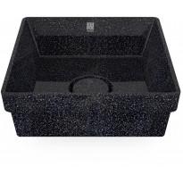 Pesuallas Woodio Cube40 Char, 400x400mm, upotettava, musta, Verkkokaupan poistotuote