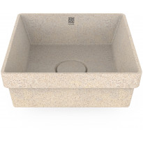 Pesuallas Woodio Cube40 Polar, 400x400mm, upotettava, valkoinen, Verkkokaupan poistotuote