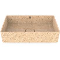 Pesuallas Woodio Cube60 Natural, 600x400mm, puu, Verkkokaupan poistotuote