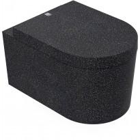 Seinä-WC-istuin Woodio Block Char, musta