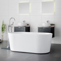 Kylpyamme Westerbergs Stilla 1500, akryyli, valkoinen