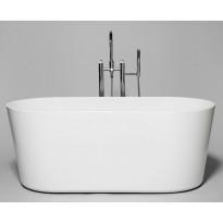 Kylpyamme Westerbergs Stilla 1600, akryyli, valkoinen