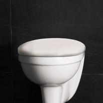 Seinä-WC-istuimen kansi Westerbergs Wall, soft-close, valkoinen