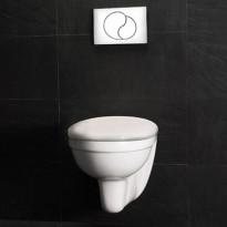 Seinä-WC-istuin Westerbergs Wall, valkoinen