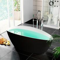 Kylpyamme Westerbergs Ellipse 1570, 260l, musta/valkoinen