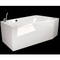 Kylpyamme Westerbergs Motion 160L 2.0, akryyli, valkoinen, vasen