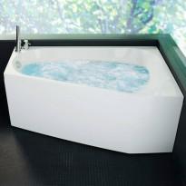 Poreamme Westerbergs Motion 160L Comfort 2.0, akryyli, valkoinen, vasen
