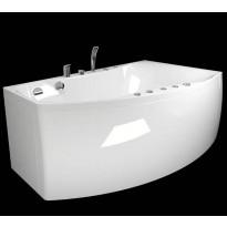 Kylpyamme Westerbergs Ocean 160L 2.0, akryyli, valkoinen, vasen