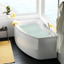 Poreamme Westerbergs Ocean 160R Comfort 2.0, akryyli, valkoinen, oikea