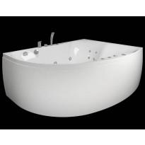 Kylpyamme Westerbergs Ocean 170L Duo 2.0, akryyli, valkoinen, vasen