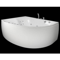 Kylpyamme Westerbergs Ocean 170R Duo 2.0, akryyli, valkoinen, oikea