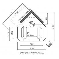 Santeri 75 nurkkamalli