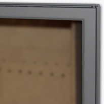 Luukku Pisla HTT 302 1-ovinen teräsluukku lasilla, satiiniharmaa