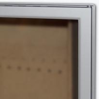 Luukku Pisla HTT 302 1-ovinen teräsluukku lasilla satiinikromi