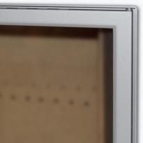 Luukku Pisla HTT 301 1-ovinen teräsluukku lasilla satiinikromi