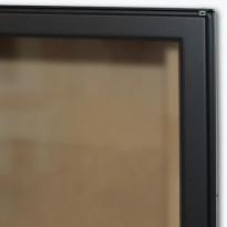 Luukku Pisla HTT 301 1-ovinen teräsluukku lasilla satiinimusta