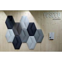 Akustiikkapaneeli Yeseco Aline 43x58cm, valkoinen, Verkkokaupan poistotuote