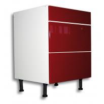 Keittiön laatikosto 710x400x560mm, 2 korkea ja 1 matala etusarja, eri etusarjavaihtoehtoja