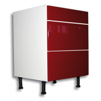 Keittiön laatikosto 710x600x560mm, 2 korkea ja 1 matala etusarja, eri etusarjavaihtoehtoja
