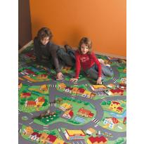 Lastenhuoneen matto Pikku kylä, eri kokoja