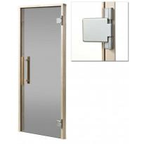 Saunan ovi Cozy 8x19, itsestään sulkeutuvilla saranoilla, harmaa, Verkkokaupan poistotuote