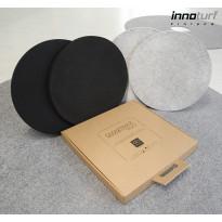 Akustiikkalevy INNOturf SMARTpackDUO M Ø400 mm 2 kpl 0,25 m² musta