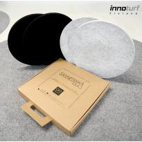 Akustiikkalevy INNOturf SMARTpackDUO S Ø330 mm 2 kpl 0,17 m² musta