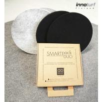 Akustiikkalevy INNOturf SMARTpackDUO XS Ø250 mm 2 kpl 0,10 m² musta