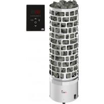 Sähkökiuas SAWO Aries Round Ni2, 4.5kW, 3-6m³, erillinen ohjaus