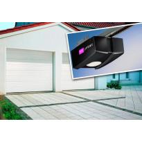 Autotallin nosto-ovi Isomatic Nordic 2500x2125mm vaakauritettu + avaaja Liftronic 500, Verkkokaupan poistotuote